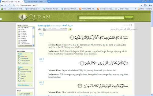 Ciri-ciri www.quran.com