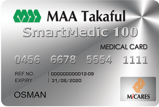 MAA Takaful Smartmedic 100 Medical Card