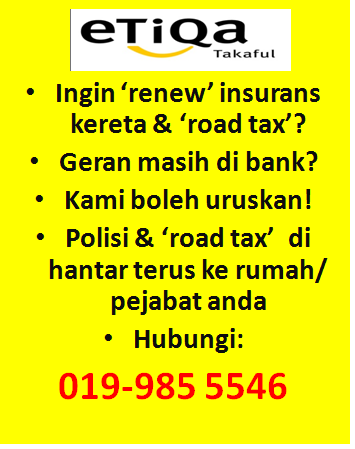 Renew Insurans & Road Tax 2013