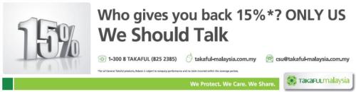 Rebat Tanpa Tuntutan Takaful Malaysia
