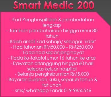 Ciri-ciri Smartmedic 200 MAA Takaful