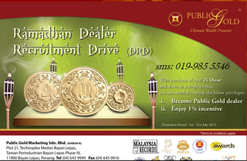 Promosi Jadi Dealer Public Gold Julai 2013
