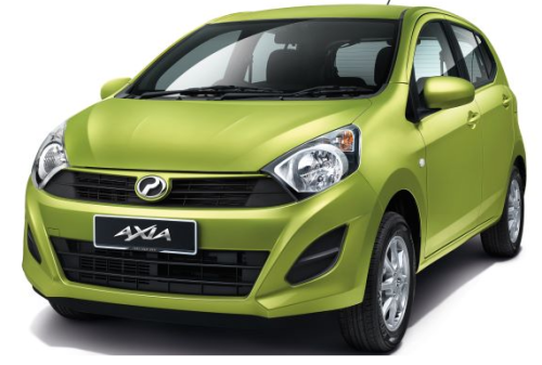 Perodua Axia Lemon Grass Green